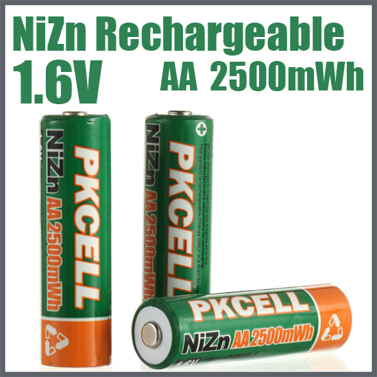 NiZn Rechargeable Battery AA2500mWh
