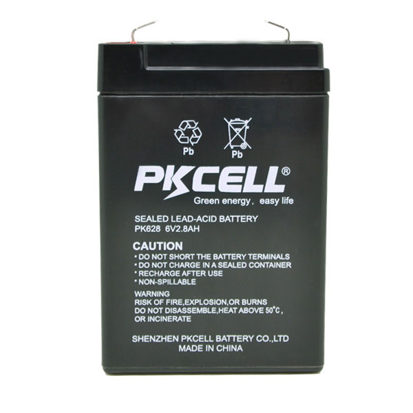 6v 2.8ah lead acid battery